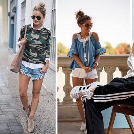Πολύ κοντά με το street casual, το sporty casual διαφέρει μόνο στην κυριαρχία του τζιν και στο athleisure look. Τζιν παντελόνια και πουκάμισα, sneakers, πλεκτά, καπέλα ή κασκέτα και αθλητικές φόρμες αποτελούν το νεανικό αυτό είδος ντυσίματος