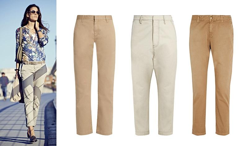Φορέστε το με φλατ δερμάτινα παπούτσια κι ένα φλοράλ πουκάμισο // Στο χρώμα της άμμου, Saint Laurent // Ζαχαρί, Golden Goose Deluxe Brand // Με στενή φόρμα, Current Elliott