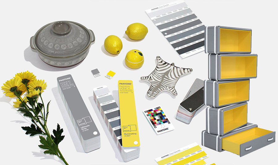 Η ένωση του διαχρονικού Ultimate Gray με το έντονο κίτρινο Illuminating στέλνει ένα μήνυμα θετικότητας σε συνδυασμό με ψυχικό σθένος
