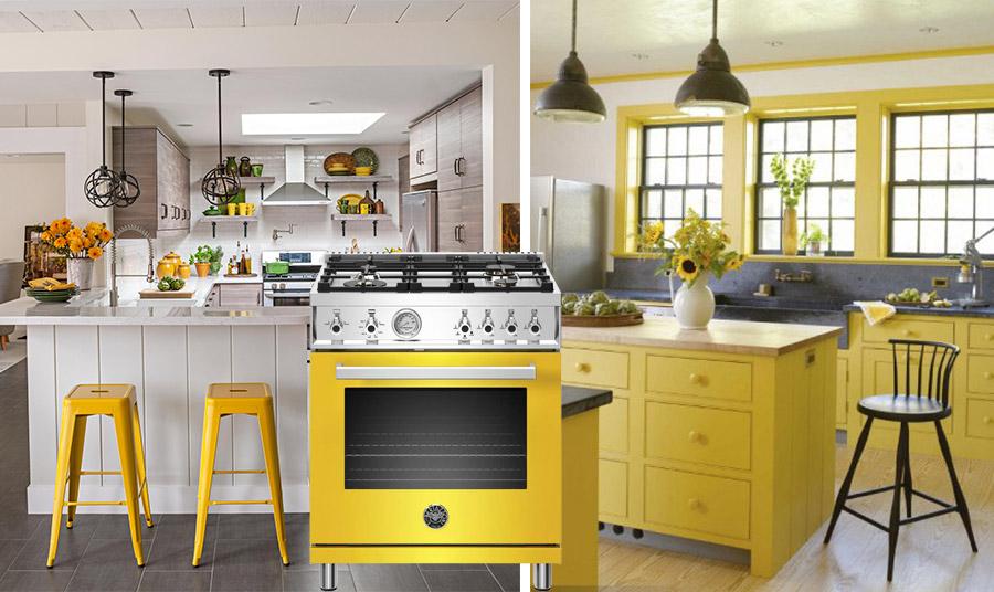 Ο χώρος της κουζίνας είναι κατ' εξοχήν το δωμάτιο που αγαπά… το φωτεινό κίτρινο. Άλλωστε, λέγεται ότι το κίτρινο ανοίγει την όρεξη!