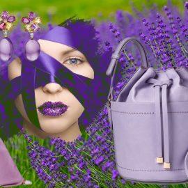 Για ένα εξαιρετικά σοφιστικέ στιλ ντυθείτε σε παστέλ μοβ, όπως το μοντέλο Lisanne de Jong // Σκουλαρίκια από αμέθυστο και σιτρόν, Bulagari // Κρατήστε μία τσάντα σε απαλό μοβ χρώμα // Φόρεμα με ασυμμετρίες, Roland Mouret