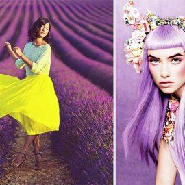 Οι πιο τολμηρές θα στραφούν στην εκκεντρική μοβ βαφή για τα μαλλιά