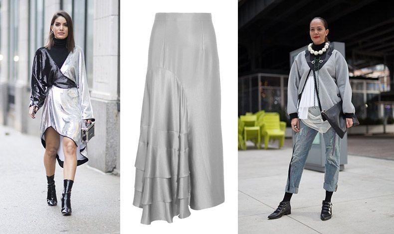 Οι ασημί αποχρώσεις επιστρέφουν δυναμικά αυτό το φθινόπωρο, από ασημένια κοκτέιλ φορέματα, παντελόνια, παλτό, αλλά και οτιδήποτε άλλο μπορεί να βάλει ο νους σας