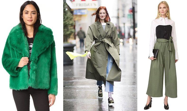 Ρούχα και αξεσουάρ σε όλες τια αποχρώσεις του πράσινου, από το φωτεινό πράσινο της χλόης μέχρι αυτό της ελιάς και το πλούσιο σμαραγδί, σίγουρα θα βρεθούν και στη δική σας ντουλάπα!