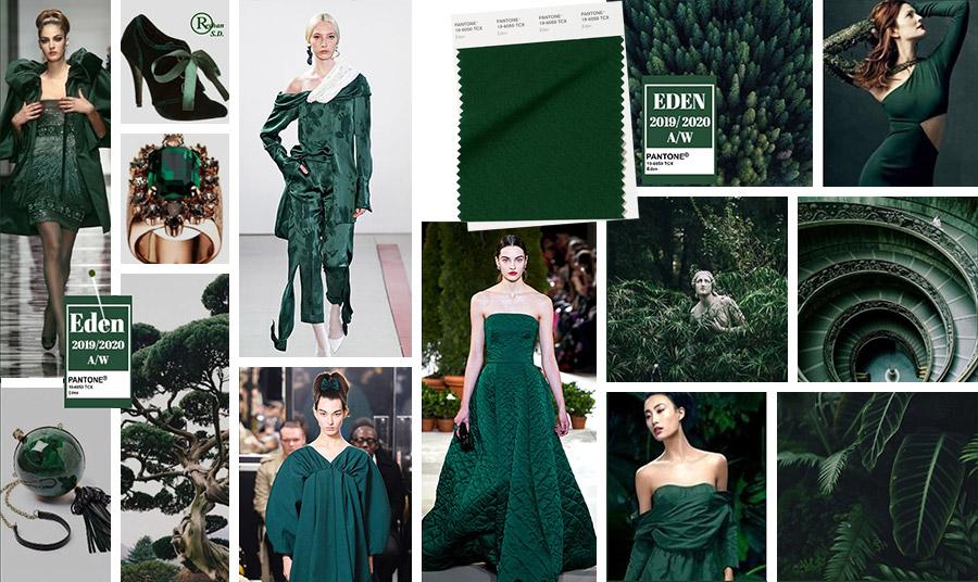 Το Eden είναι ένα βαθύ πράσινο αλλά με μία νότα φρεσκάδας. Μία πιο θερμή απόχρωση από το το forest biome που δημιουργεί ένα ιδιαίτερο αποτέλεσμα σε σατέν υφάσματα ή δαντέλες