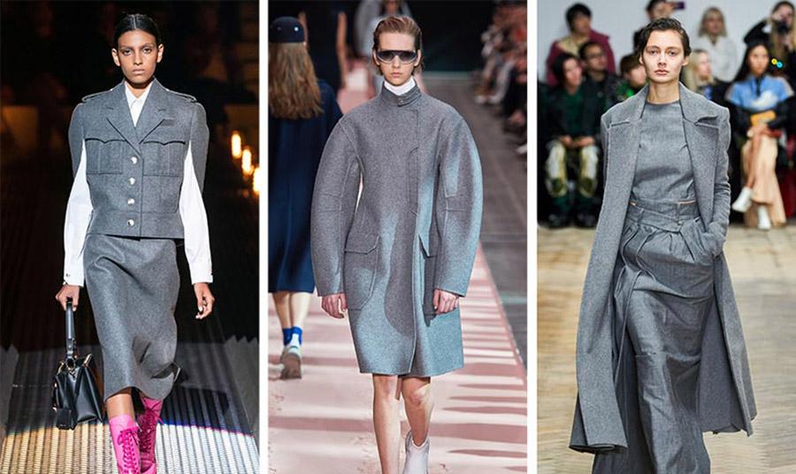 Το «παγωμένο γκρι» είναι από τα χρώματα που θα φορεθούν κατά κόρον τόσο στα πανωφόρια, όσο και στα υπόλοιπα ρούχα.