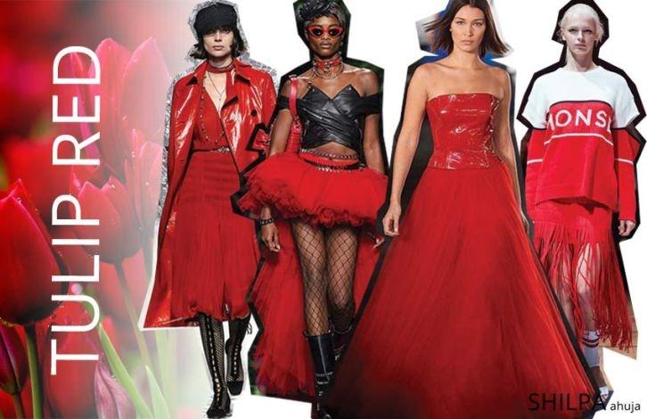 Το κόκκινο είναι σαφώς ένα από τα πιο δημοφιλή χρώματα και της φετινής άνοιξης