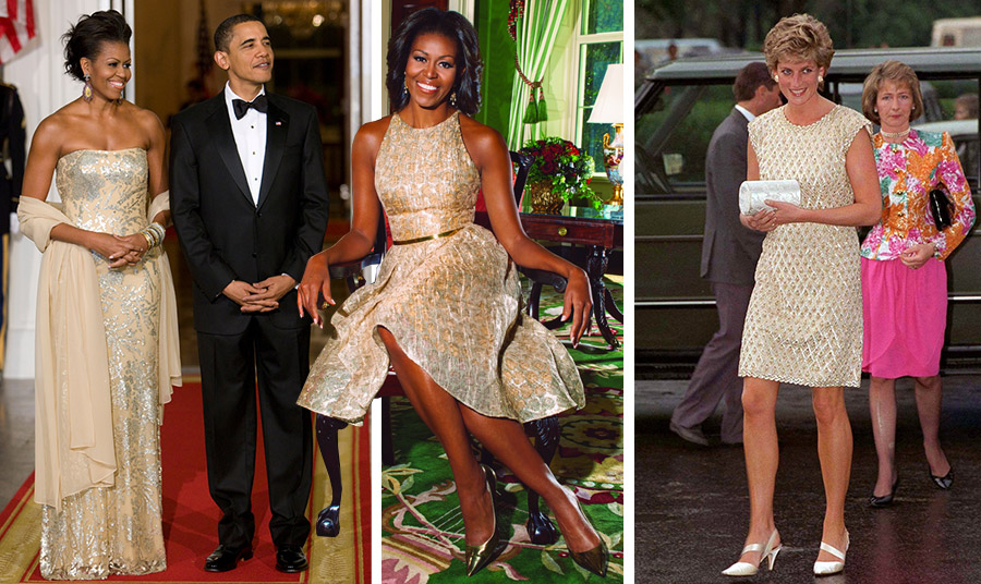 Στη γοητεία του χρυσού «υπέκυψαν» τόσο η Μισέλ Ομπάμα στο εορταστικό δείπνο στον Λευκό Οίκο τον Δεκέμβριο του 2009, όσο και η πριγκίπισσα Νταϊάννα σε παράσταση μπαλέτου στο θέατρο Μπολσόι στη Μόσχα το 1995