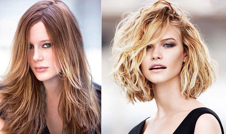 Εάν έχουμε μακριά μαλλιά, μπορούμε να μειώσουμε το βάρος τους δημιουργώντας διαφορετικά επίπεδα στο κόψιμό τους // Επιλέγοντας ένα καρέ κόψιμο, στο ύψος των ώμων, με κοντύτερο μήκος πίσω και ασύμμετρα τελειώματα μπροστά, το πρόσωπο μας θα δείχνει λεπτότερο