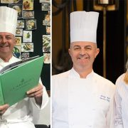 Ο σεφ Martyn Nail και η συγγραφέας Meredith Erickson που επιμελήθηκαν το «Claridge's: The Cookbook»