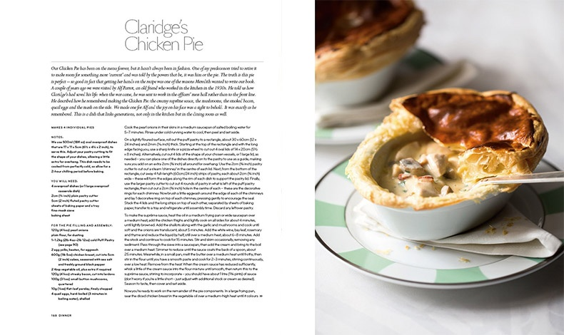 Ένα από τα διάσημα πιάτα του Claridge's, τώρα και στο τραπέζι όσων αποκτήσουν το βιβλίο