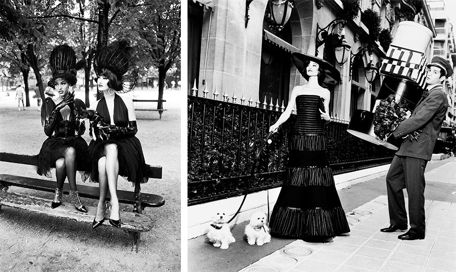 Η Karen Mulder και η Deon Bray  σε φωτογράφηση μόδας από την Ellen von Unwerth για το περιοδικό Vogue στη δεκαετία του '90 // Η Bianca Balti σε ασπρόμαυρη φωτογράφηση μόδας για την ιταλική έκδοση του Vogue από την  Ellen von Unwerth