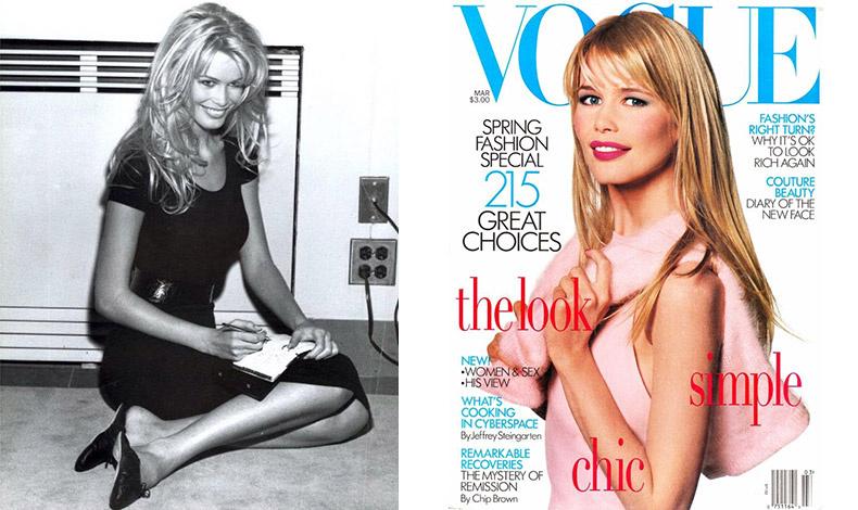 Ένας ακόμη διάσημος φωτογράφος μόδας, ο Steven Meisel με την Κλώντια σε editorial μόδας για την ιταλική Vogue και για ένα από τα 58 (!) εξώφυλλα του περιοδικού Vogue το '90