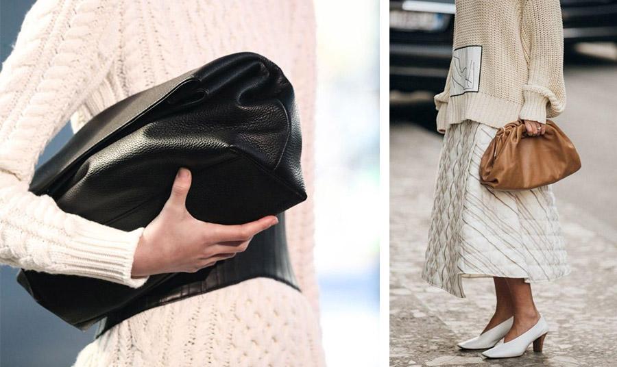 Από τη συλλογή φθινόπωρο 2021-χειμώνας 2022, Gabriella Hearst // Κρατήστε τη νέα clutch στην «αγκαλιά» σας ή από το χέρι