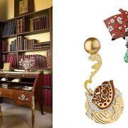 Το γραφείο της Κοκό Σανέλ: Ο «σταθμός εργασίας» της θρυλικής δημιουργού ήταν τοποθετημένος μπροστά από ένα από τα αγαπημένα της παραβάν // Οι καρφίτσες με μαργαριτάρια, διαμάντια και σμαράγδια της εξαιρετικής σειράς The Coromandel Legend