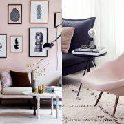 Συνδυάζοντας το «κοριτσίστικο» ροζ με μαύρο και μοντέρνες γραμμές στα έπιπλα, το αποτέλεσμα είναι άκρως ενδιαφέρον