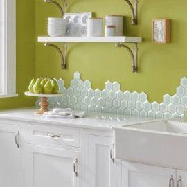 Το πράσινο σε οποιαδήποτε απόχρωση θεωρείται ιδανικό σε μια κουζίνα ή έναν καθιστικό χώρο