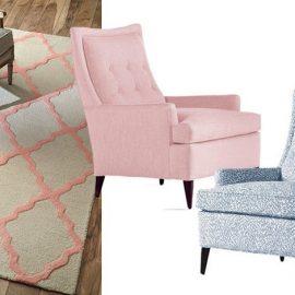 Βάζοντας διακριτικά τη ροζ πινελιά ή επιλέγοντας μία πολυθρόνα ντυμένη με ύφασμα, σε μία από τις δύο παστέλ αποχρώσεις