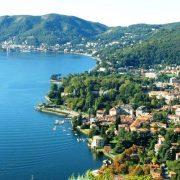 Άποψη της γραφικής και ιστορικής λίμνης Κόμο