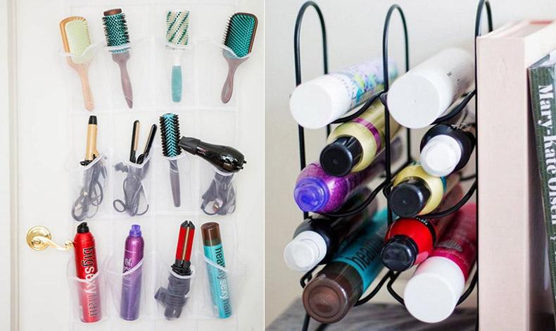 Θήκες για παπούτσια ή βάση για κρασιά αλλάζουν χρήση και μας δίνουν τη δυνατότητα να τακτοποιήσουμε τα προϊόντα για τα μαλλιά μας Θήκες για παπούτσια ή βάση για κρασιά αλλάζουν χρήση και μας δίνουν τη δυνατότητα να τακτοποιήσουμε τα προϊόντα για τα μαλλιά μας