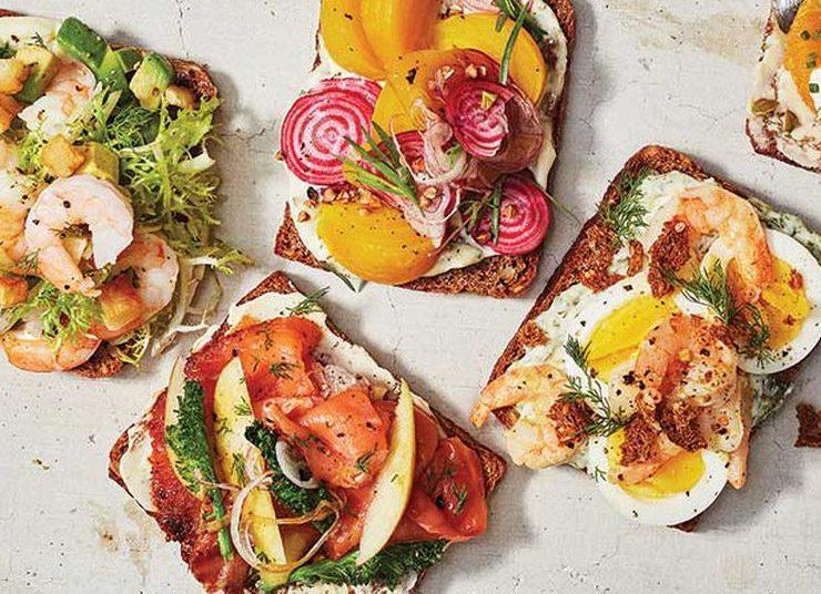 Ανοιχτό δανέζικο σάντουιτς