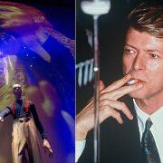 """Από την έκθεση """"David Bowie is"""" που έλαβε χώρα το 2013 στο Victoria & Albert Museum του Λονδίνου // Καπνίζοντας..."""