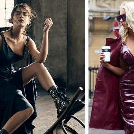 Νεανικό και σέξι λουκ με ένα χυτό δερμάτινο φόρεμα // Για πραγματικά εντυπωσιακή εμφάνιση, δοκιμάσετε ένα σκούρο μπορντό γυαλιστερό δερμάτινο φόρεμα από δέρμα λουστρίνι με ασορτί πανωφόρι