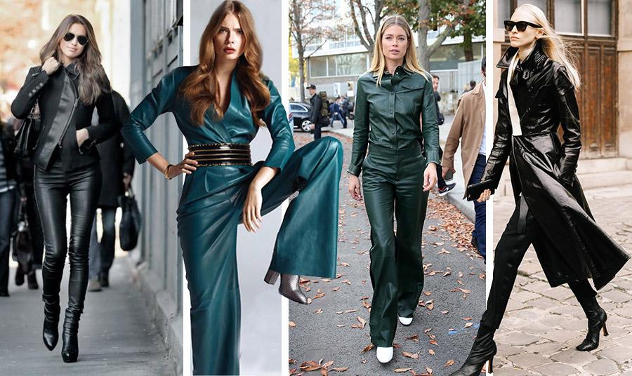 Φορέστε αυτή τη σεζόν δέρμα από πάνω έως κάτω. Μη φοβηθείτε το χρώμα, ειδικά στις αποχρώσεις του σκούρου πράσινου!