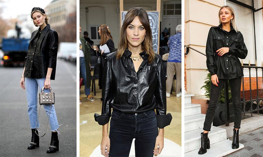 Το μαύρο δερμάτινο πουκάμισο είναι μία διαχρονική επιλογή. Φορέστε το με τα πάντα!