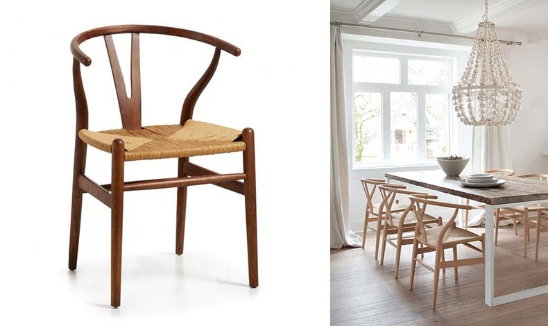 Η καρέκλα Wishbone, δημιουργία του Δανού Hans J. Wegner από το 1949 συνδυάζει τον μινιμαλισμό με τα φυσικά υλικά. Σήμερα τα συγκεκριμένα καθίσματα αποτελούν την πιο ισχυρή τάση διακόσμησης