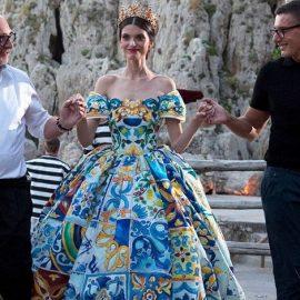Οι διάσημοι σχεδιαστές Domenico Dolce και Stefano Gabbana στο σόου