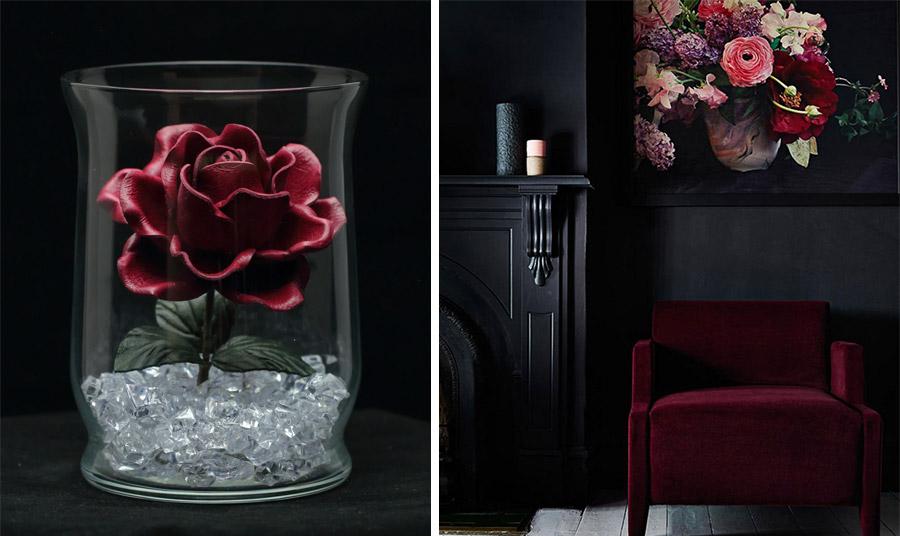 Η βαθιά απόχρωση του κόκκινου είτε σε ένα διακοσμητικό αντικείμενο είτε σε ένα έπιπλο δίνει και ένα… μυστηριακό ύφος αν συνδυαστεί με μαύρο! Το βρίσκετε τολμηρό;