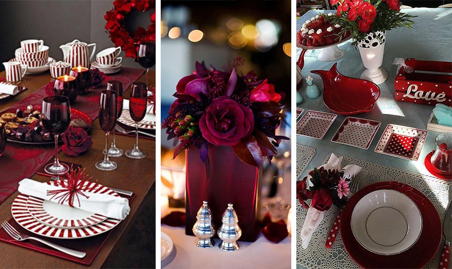 Και φυσικά, στρώστε και διακοσμήστε το τραπέζι σας με το βαθύ κόκκινο της μόδας! Για οποιοδήποτε γεύμα αλλά και για τις Γιορτές.