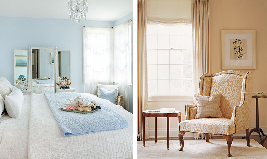 Παστέλ γαλάζιο ή γήινες αποχρώσεις κάνουν τον χώρο πιο φωτεινό