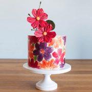Λουλουδένια διακόσμηση τούρτας!