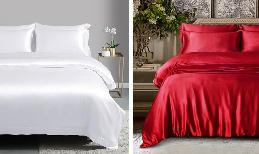 Η πολυτέλεια στο… κρεβάτι σας! Τα μεταξωτά σεντόνια είναι μία ακριβή επιλογή αλλά είναι δροσερά, με απαλή, βελούδινη υφή και πολύ ανθεκτικά