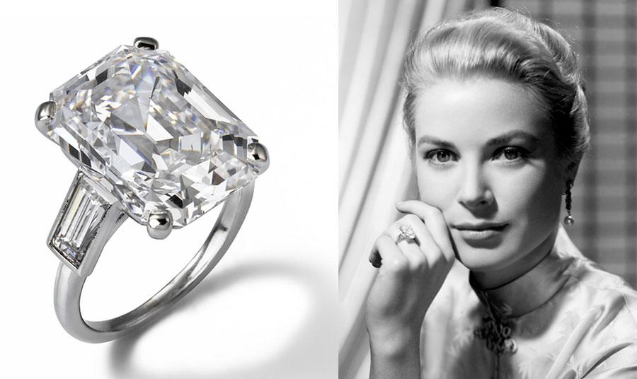 Το δαχτυλίδι αρραβώνων της Γκρέις Κέλλι με τον Πρίγκιπα Ρενιέ του Μονακό, που δεν το αποχωριζόταν ποτέ