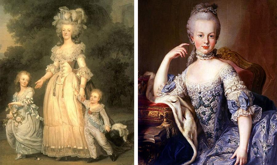 Η βασίλισσα της Γαλλίας Μαρία Αντουανέτα παρά τα γλυκά που κατανάλωνε κατά τη διάρκεια της ημέρας διατηρούσε μία πολύ λεπτή σιλουέτα