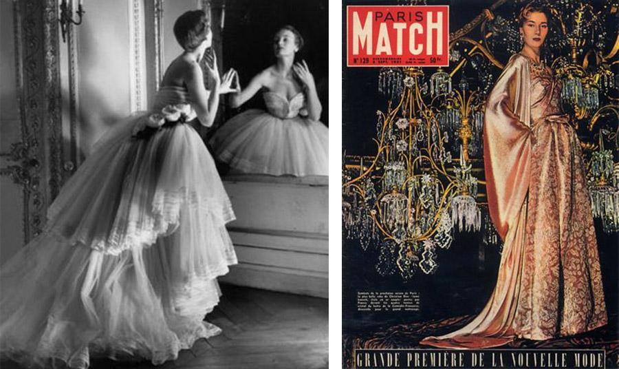 Από την Υψηλή Ραπτική Dior το 1951 // Εξώφυλλο του διάσημου και τεράστιας κυκλοφορίας γαλλικού περιοδικού Paris Match τον Σεπτέμβριο του 1951
