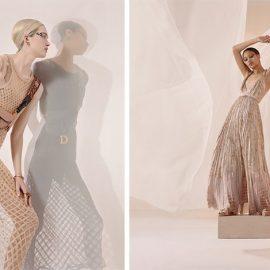 Τα διχτυωτά φορέματα και η τσάντα Saddle Bag σε ένα παιχνίδι φωτός και σκιάς // Τα ρευστά μακριά φορέματα θυμίζουν ελληνικούς χιτώνες
