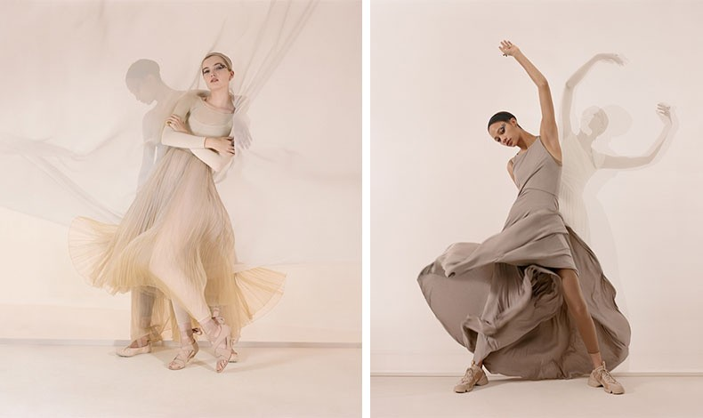 Τα κορμάκια, τα ρευστά, χυτά ρούχα, οι διχτυωτές δημιουργίες και οι παστέλ και ουδέτερες αποχρώσεις κυριαρχούν στη νέα σεζόν // Η Selena Forrest εντυπωσιάζει στην νέα καμπάνια του Dior