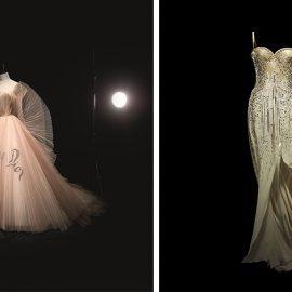 Δημιουργία της Maria Grazia Chiuri, Φόρεμα, Υψηλή Ραπτική, άνοιξη/ καλοκαίρι 2018, Φωτό © Laziz Hamani // Δημιουργία του John Galliano, J?adore, Φόρεμα, Υψηλή Ραπτική, 2008 (ειδική παραγγελία), Φωτό © Laziz Hamani