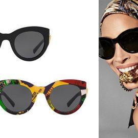Η Μέδουσα, σύμβολο του οίκου, στολίζει στο πλάι τα κλασικά μαύρα γυαλιά, Versace Medusa Icon Sunglasses // Με ιδιαίτερα prints, Versace Vogue Print Sunglasses
