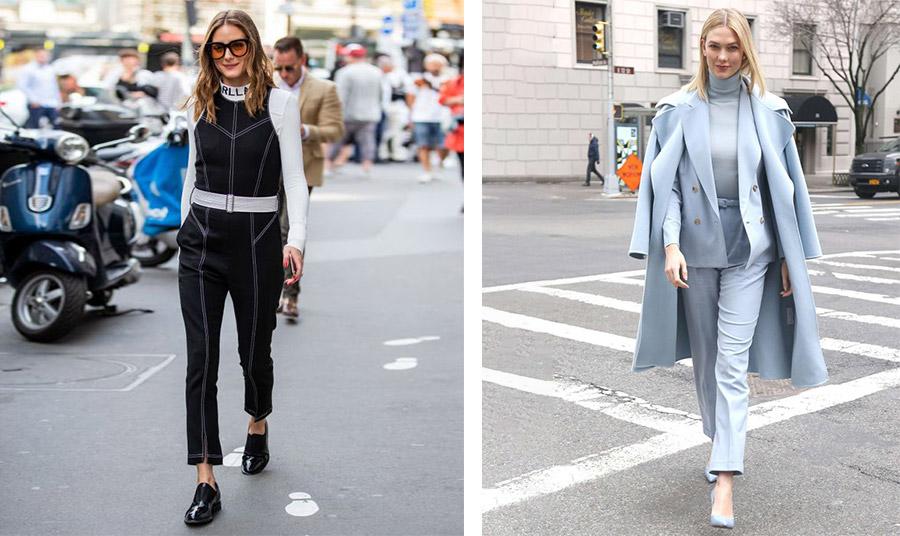 Φορέστε ίσια παπούτσια στην καθημερινότητά σας όπως η Olivia Palermo για να είστε άνετη // Σταθείτε… στο ύψος σας, όπως η Karlie Kloss με το υπέροχο κοστούμι και τις ψηλοτάκουνες γόβες, αλλά μόνο αν μπορείτε να τις περπατήσετε με χάρη!