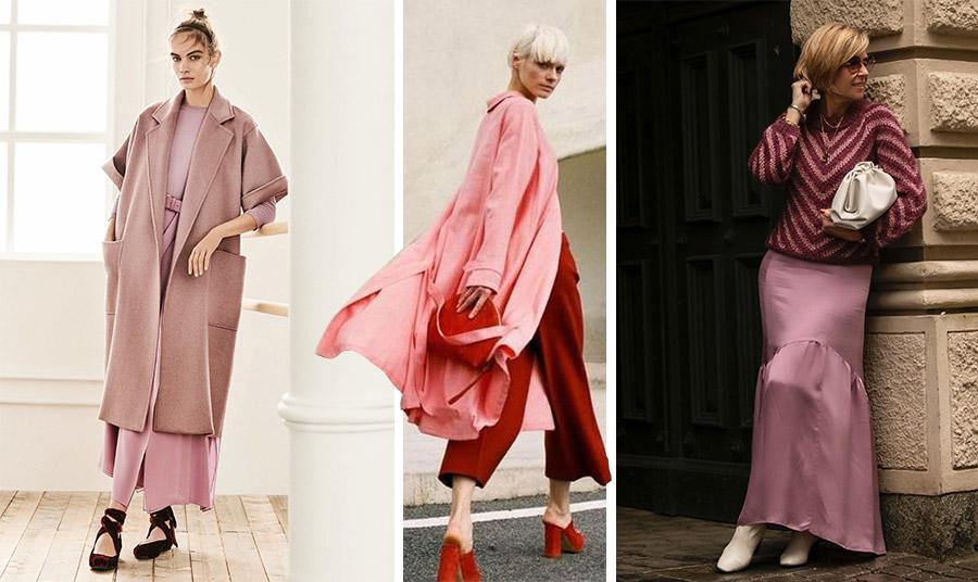 Φορέστε μία μονοχρωμία σε «σκονισμένο» ροζ και συνδυάστε παπούτσια σε σκούρο μπορντό // Για τις πιο τολμηρές, ο συνδυασμός του κόκκινου της Βουργουνδίας με το dusty pink εκφράζει το πνεύμα της ανεξαρτησίας // Μπορντό, ροζ και κρεμ, κλασικό και μοντέρνο ταυτόχρονα