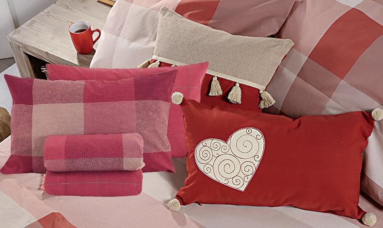 Ιδέες για την αγαπημένη μας αδελφή! Αυτή τη φορά «σκεπάστε» την με την αγάπη σας! Σετ καρό φανελένια σεντόνια και παπλωματοθήκη // Υπέροχα διακοσμητικά μαξιλάρια για το κρεβάτι ή οπουδήποτε αλλού, όλα NEF NEF homeware