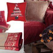 Για τη λατρευτή μας μαμά! Επίκαιρο διακοσμητικό μαξιλάρι σε κατακόκκινο χρώμα // Κουβέρτα fleece με γουνάκι και ασορτί μαξιλάρι για να την ξεκουράσετε // Πετσέτες κουζίνας με χριστουγεννιάτικα μοτίβα // Απαλά, βελούδινα ριχτάρια με πομ πν σε διάφορα χρώματα, όλα από τις νέες συλλογές, NEF NEF homeware