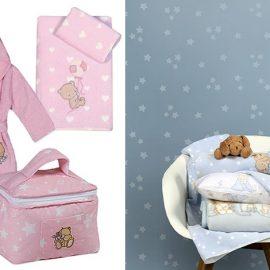 Για τις νέες? αφίξεις! Για τη μικρή? πριγκίπισσα, όλα στα ροζ, σετ πετσέτες από απαλό βαμβάκι, μπουρνούζι και νεσεσέρ // Για τον μικρό πρίγκιπα, όλα σε γαλάζιο, μπουρνούζι, σετ σεντόνια, σετ πετσέτες, παπλωματοθήκη, όλα από τη σειρά Baby, NEF NEF homeware