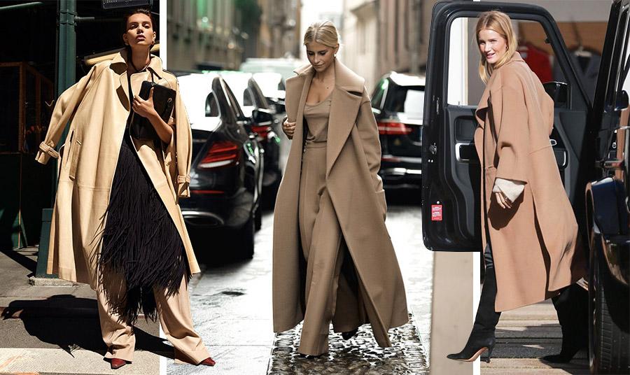Ένα oversized καμηλό παλτό με μαύρα ή στην ίδια απόχρωση ρούχα αποπνέει πολυτέλεια και στιλ
