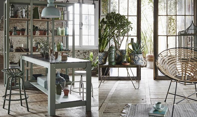 Φυσικό περιβάλλον και έμπνευση από τον ιαπωνικό μινιμαλισμό, για διάθεση zen! // Τα τετραγωνισμένα σχήματα αποκτούν πολλαπλές όψεις, χάρη στα φυτά που χαρίζουν άλλη διάσταση στον χώρο